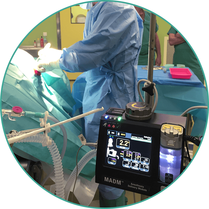 MADM™ in use with patient in a filed hospital