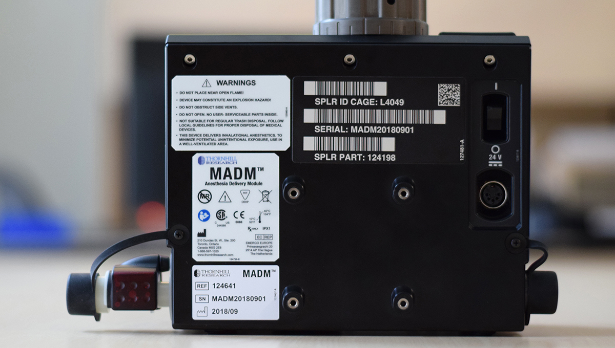 MADM™ technical labels on the back