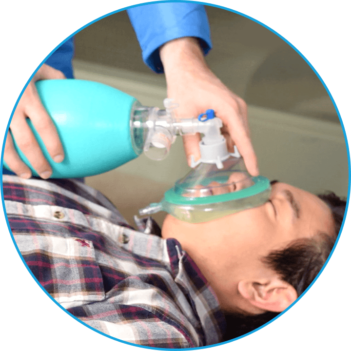 ClearMate™ application of of device on patient